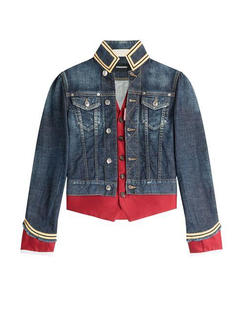 Dsquared2 | Синий Military Style Denim Jacket Gr. It 38