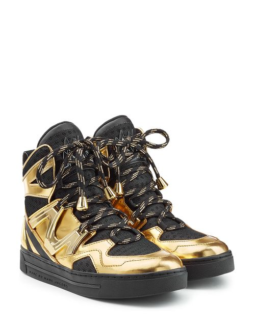 Marc by Marc Jacobs | Женское Золотой Wedge Sneakers With Metallic Leather And Mesh
