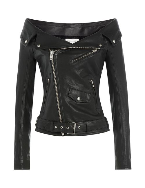 Faith Connexion | Женское Чёрный Leather Jacket With Bardot Shoulders Gr. 36
