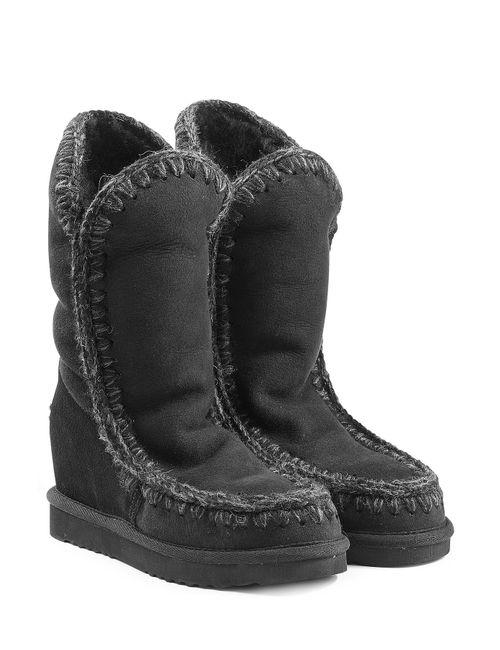 Mou | Женское Чёрный Eskimo Wedge Tall Sheepskin Boots Gr. 36