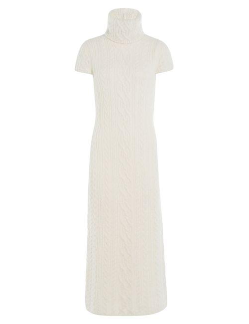 Polo Ralph Lauren | Женское Белый Knit Turtleneck Dress With Alpaca Gr. S