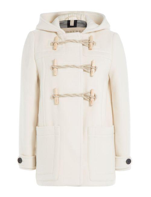 Burberry Brit | Женское Белый Wool Duffle Jacket Gr. Uk 12