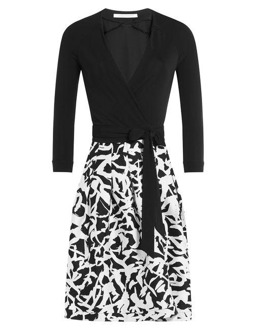 Diane Von Furstenberg | Женское Многоцветный Wool-Silk Wrap Dress Gr. Us 6