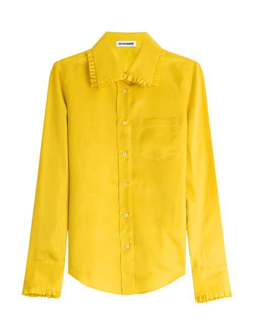 Jil Sander | Женское Желтый Silk Blouse Gr. 34