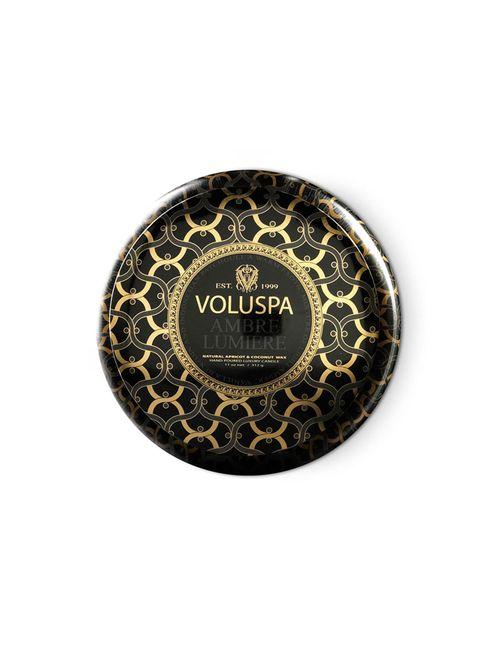 Voluspa | Многоцветный 2 Wick Maison Metallo Ambre Lumiere Candle