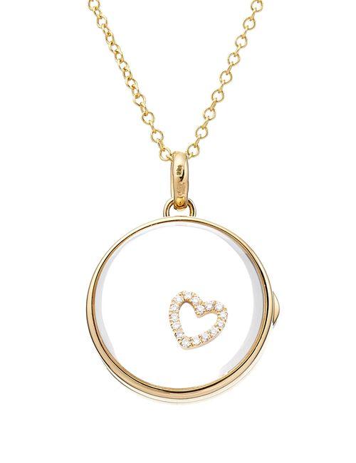 Loquet | Женское Многоцветный 14kt Heart Locket With 18kt Gold Charm