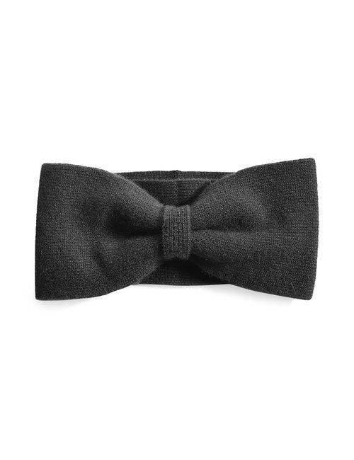 Marc by Marc Jacobs x Disney | Schwarz Alice Cashmere Bow Headband Gr. One Size