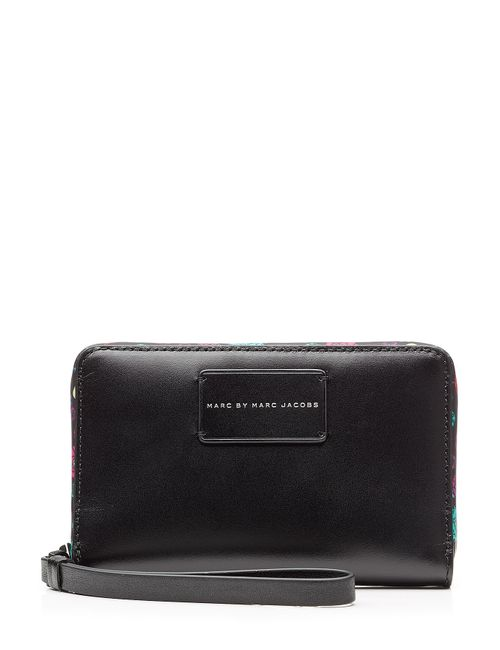 Marc by Marc Jacobs x Disney | Женское Schwarz Ditsy Flower Wingman Leather Wallet Gr. One