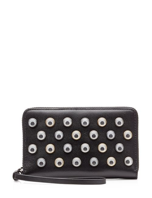 Marc by Marc Jacobs x Disney | Женское Многоцветный Googley Eye Embellished Leather Wallet With Wrist