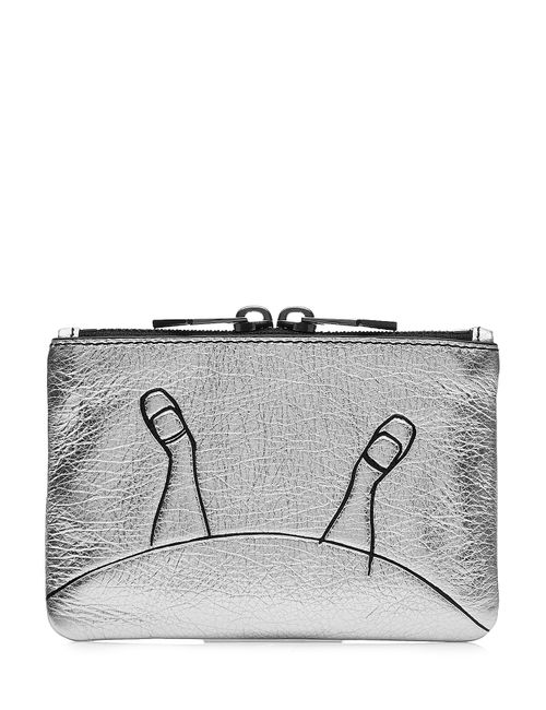 Marc by Marc Jacobs x Disney | Женское Silber Alice Mini Zipped Leather Pouch Gr. One