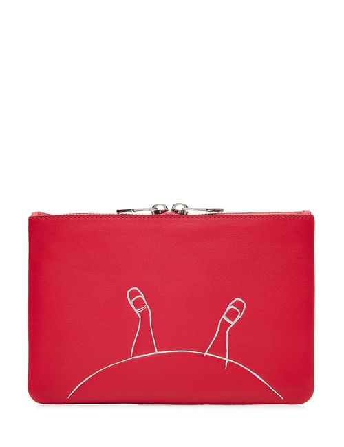 Marc by Marc Jacobs x Disney | Женское Розовый Alice Zipped Leather Pouch Gr. One Size