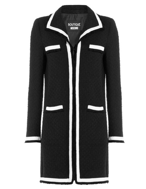 BOUTIQUE MOSCHINO | Женское Schwarz Two-Tone Bouclé Jacket Gr. 40