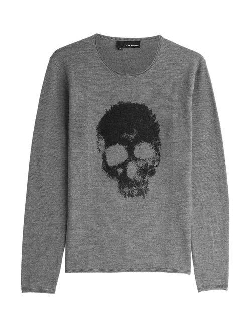 The Kooples | Grau Printed Merino Wool Pullover Gr. S