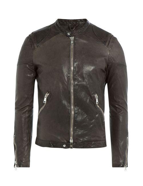 Giorgio Brato   Grau Leather Jacket Gr. 48