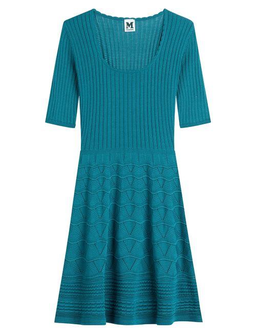 Missoni | Женское Blau Cotton-Blend Knit Dress Gr. It 38