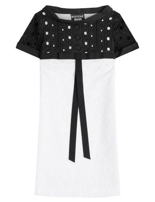 BOUTIQUE MOSCHINO | Женское Белый Cotton Dress Gr. It 40