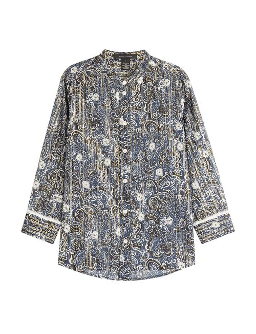 Marc Jacobs | Женское Синий Cotton-Silk Printed Blouse Gr. Us 8