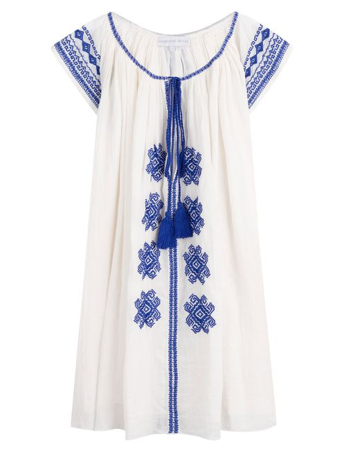 Christophe Sauvat | Женское Белый Bolshoi Embroidered Cotton Tunic Dress Gr. One