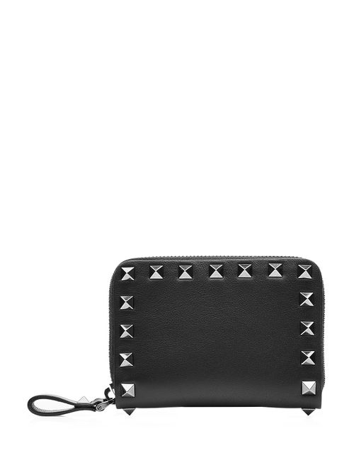 Valentino   Женское Черный Rockstud Leather Wallet Gr. One Size