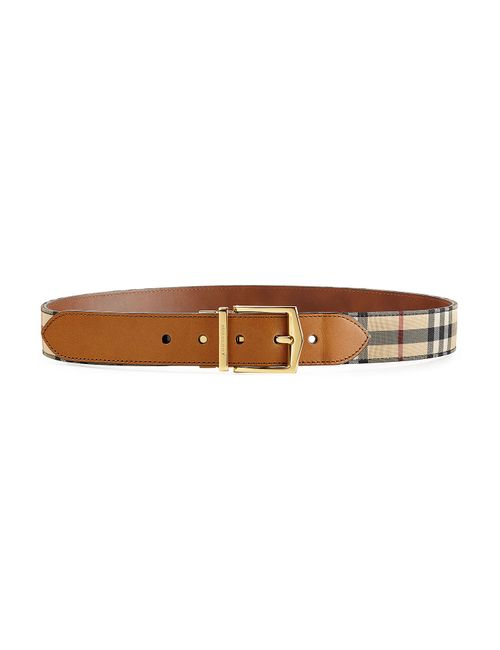 Burberry | Коричневый Leather Belt With Checked Fabric Gr. 85