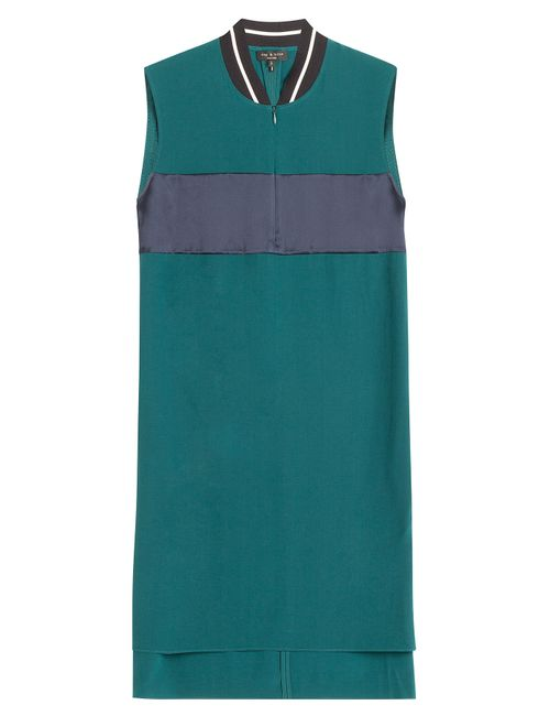 Rag & Bone | Женское Зелёный Colorblock Shift Dress With Contrast Collar Gr.