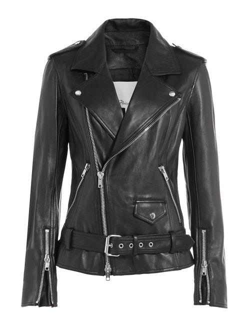 3.1 Phillip Lim | Женское Чёрный Leather Biker Jacket Gr. Us 8