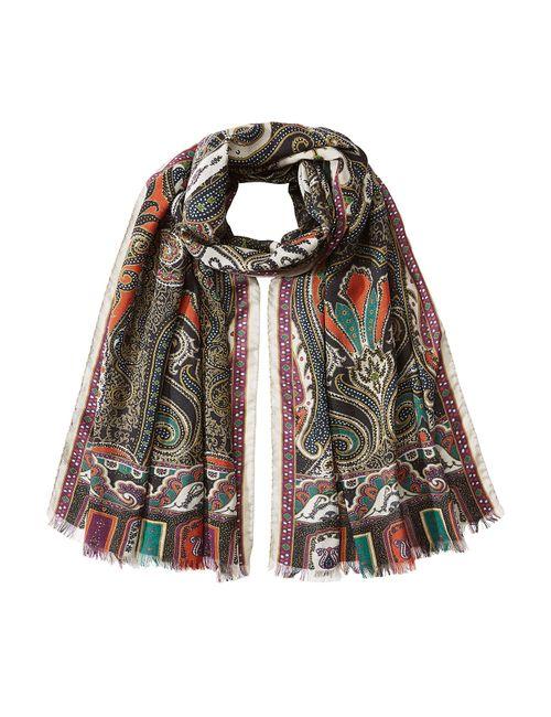 Etro | Женское Многоцветный Printed Wool-Silk Scarf Gr. One Size