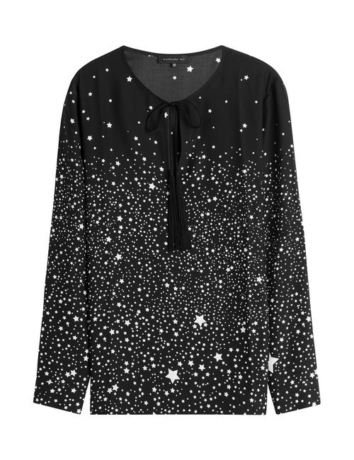 Barbara Bui | Женское Чёрный Star Print Silk Blouse Gr. Fr 36