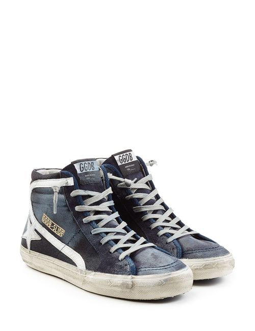 Golden Goose | Синий Slide Leather High Top Sneakers Gr. Eu