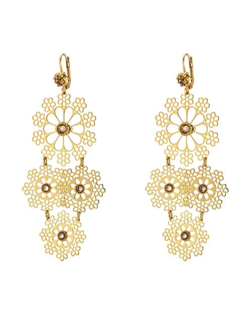 GAS BIJOUX | Женское Золотой Neige Mini 24kt Plated Embellished Chandelier Earrings