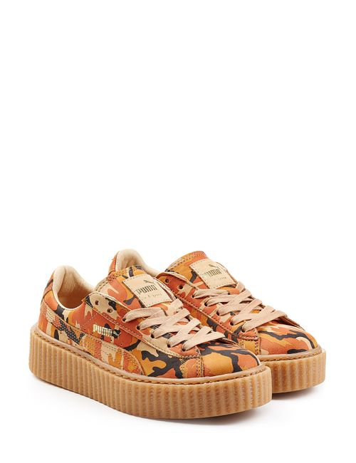 FENTY X PUMA | Женское Зелёный Camouflage Printed Leather Creepers Gr. Uk