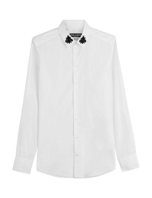 Dolce & Gabbana | Белый Cotton Shirt With Embellishment Gr. Eu 40