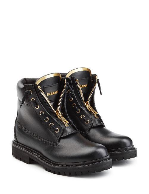 Balmain | Женское Чёрный Leather Ankle Boots Gr. Fr 36
