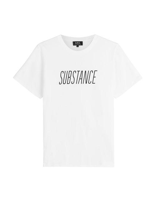 A.P.C.   Мужское Белый Printed Cotton T-Shirt Gr. S