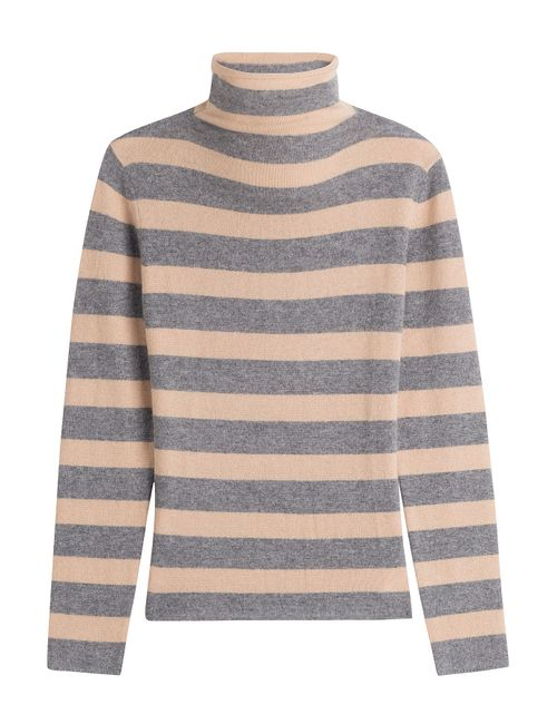 81 Hours by Dear Cashmere | Женское Stripes Striped Cashmere Turtleneck Pullover Gr. S