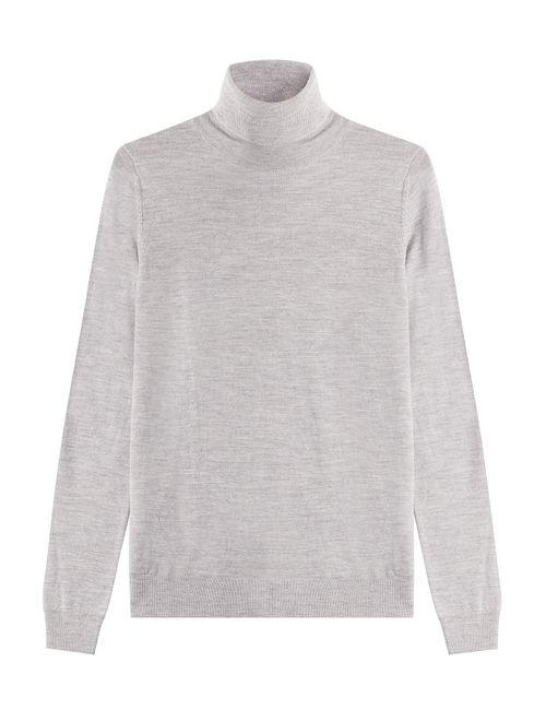 Hugo | Женское Серый Virgin Wool Turtleneck Pullover Gr. S