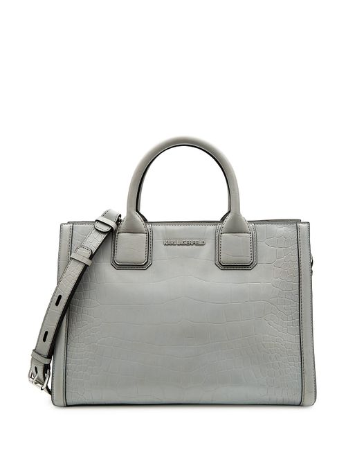Karl Lagerfeld | Женское Серый Embossed Leather Tote Gr. One Size