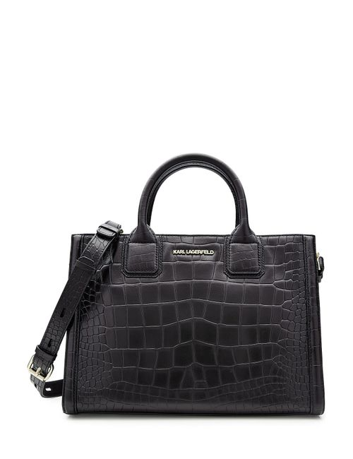 Karl Lagerfeld | Женское Чёрный Embossed Leather Tote Gr. One Size