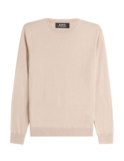 A.P.C. | Бежевый Merino Wool Pullover With Silk Gr. S