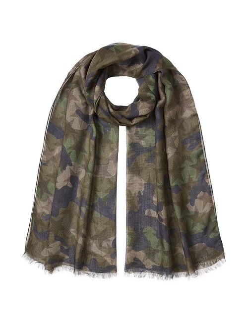 Valentino | Зелёный Printed Scarf With Cashmere And Silk Gr.