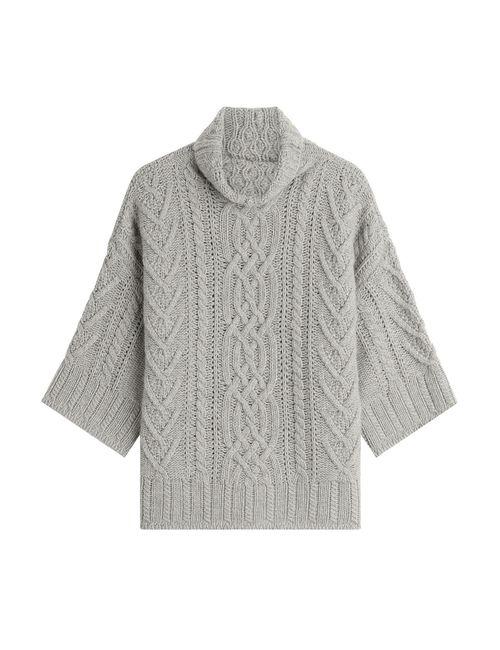Max Mara | Женское Серый Virgin Wool Pullover With Cashmere Gr. Xl