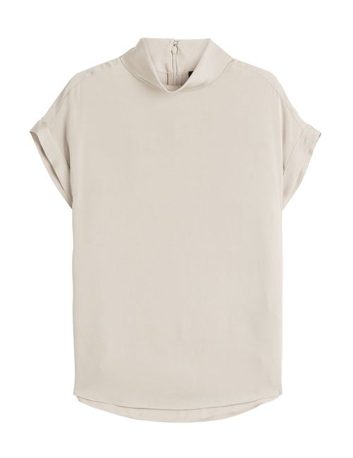 By Malene Birger | Женское Бежевый Silk Top With High Neck Gr. De
