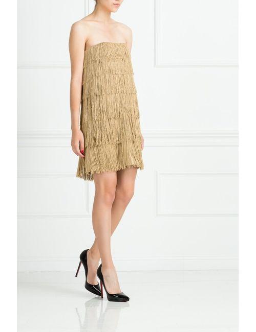 Jay Ahr | Женское Золотое Платье Из Вискозы