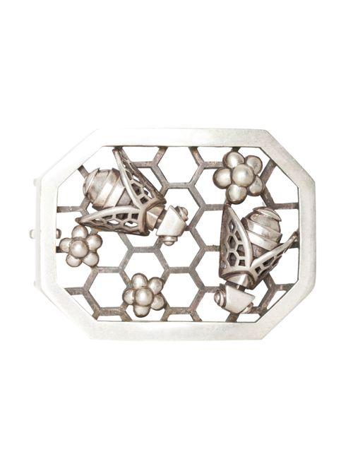 Kieselstein-Cord   Женская Серебряная Металлическая Пряжка Honey Bee