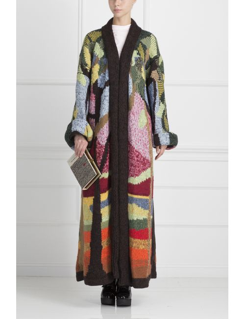 Stella Jean | Женский Многоцветный Кардиган Из Шерсти Альпака