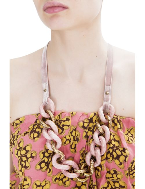Nina Ricci | Женское Розовое Розовое Колье Из Латуни