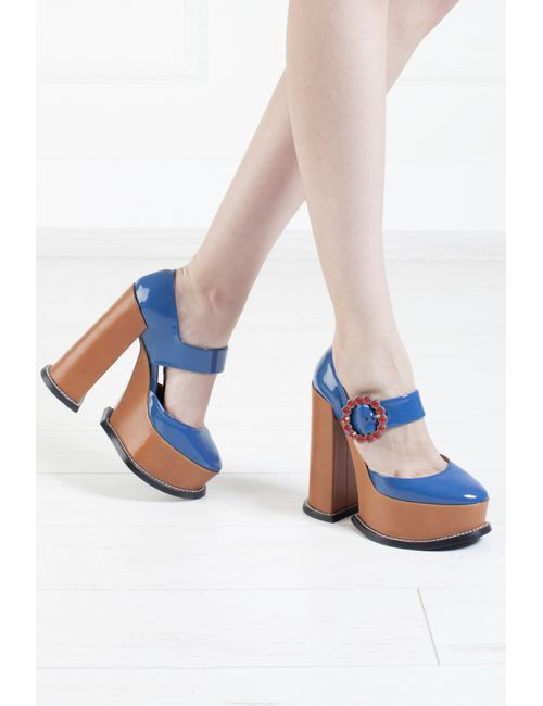 Marc Jacobs | Женские Синие Кожаные Туфли