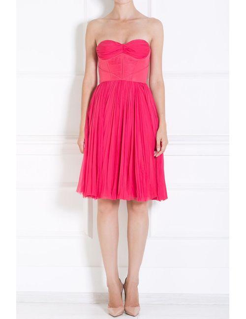 J. Mendel | Женское Розовое Шелковое Платье