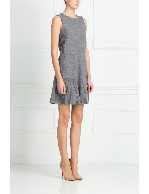 Oscar de la Renta | Женское Серое Шерстяное Платье