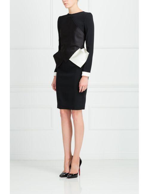 Roland Mouret | Женское Чёрное Платье Из Вискозы